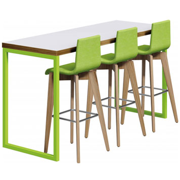 Office Furniture Now Tables Orn | Axiom Block Poseur Table