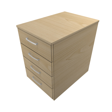 Office Furniture Now - ESDDMP4-4-DRAWER-MOBILE-PEDESTAL - Click to enlarge