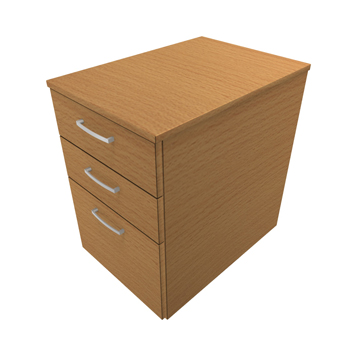Office Furniture Now - ESDDMPF-3-DRAWER-MOBILE-PEDESTAL - Click to enlarge