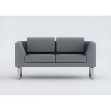Office Furniture Now Seating Gresham | Alvier Sled Leg Sofa with Fixed Cushions