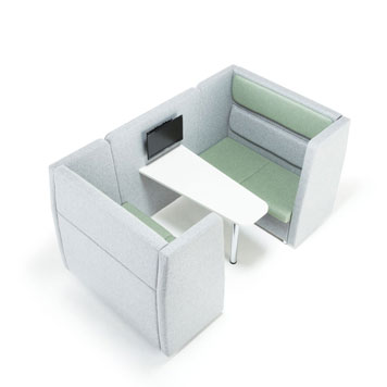 Office Furniture Now Seating Cuddle | Fabric Booth with Closed Sides