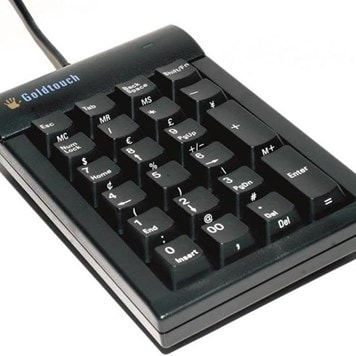 Office Furniture Now - ESAM18-GOLDTOUCH-ERGONOMIC-KEYPAD - Click to enlarge