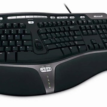 Office Furniture Now - ESAM50-MICROSOFT-NATURAL-ERGONOMIC-4000-KEYBOARD - Click to enlarge